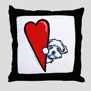 Maltese Lover Throw Pillow