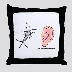Earwig Insect Ear Throw Pillow