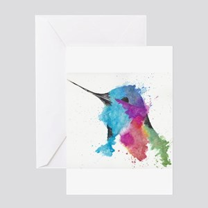 Watercolor painting greeting cards cafepress hummingbird watercolor ink greeting cards m4hsunfo