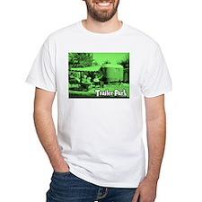 Trailer Park Green Vintage White T-Shirt