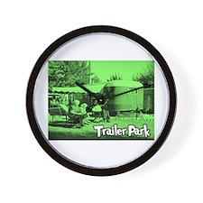 Trailer Park Green Vintage Wall Clock