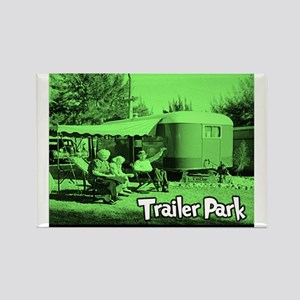 Trailer Park Green Vintage Rectangle Magnet