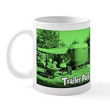 Trailer Park Green Vintage Mug