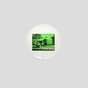 Trailer Park Green Vintage Mini Button