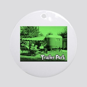 Trailer Park Green Vintage Ornament (Round)