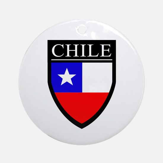 Chile Flag Patch Ornament (Round)