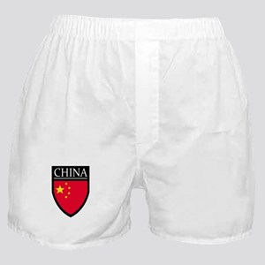 China Flag Patch Boxer Shorts