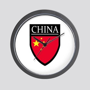 China Flag Patch Wall Clock