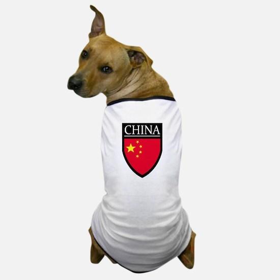 China Flag Patch Dog T-Shirt