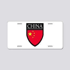 China Flag Patch Aluminum License Plate