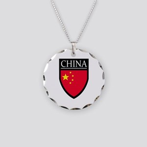 China Flag Patch Necklace Circle Charm