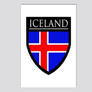 Iceland Flag Patch Postcards (Package of 8)