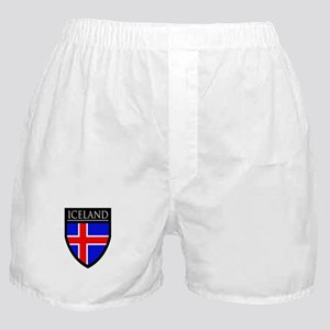 Iceland Flag Patch Boxer Shorts
