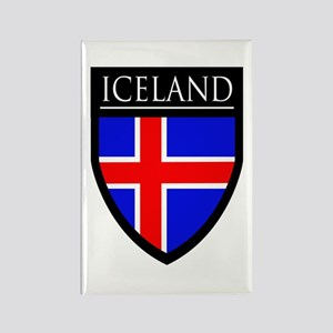 Iceland Flag Patch Rectangle Magnet