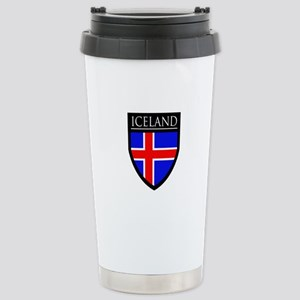 Iceland Flag Patch Stainless Steel Travel Mug