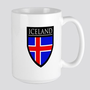 Iceland Flag Patch Large Mug
