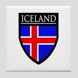 Iceland Flag Patch Tile Coaster
