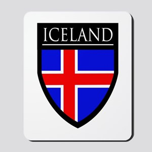 Iceland Flag Patch Mousepad