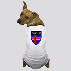 Iceland Flag Patch Dog T-Shirt