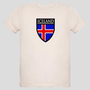 Iceland Flag Patch Organic Kids T-Shirt