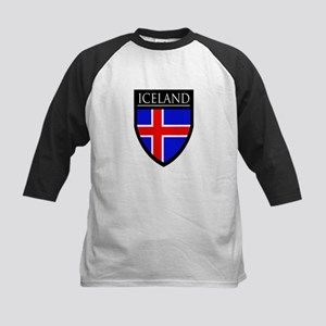 Iceland Flag Patch Kids Baseball Jersey