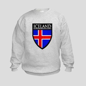 Iceland Flag Patch Kids Sweatshirt