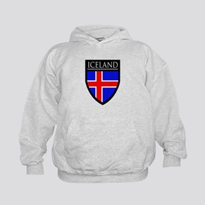 Iceland Flag Patch Kids Hoodie