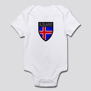 Iceland Flag Patch Infant Bodysuit