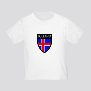 Iceland Flag Patch Toddler T-Shirt