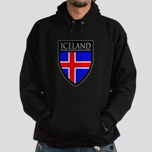 Iceland Flag Patch Hoodie (dark)