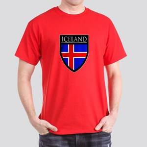 Iceland Flag Patch Dark T-Shirt