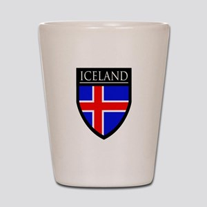 Iceland Flag Patch Shot Glass