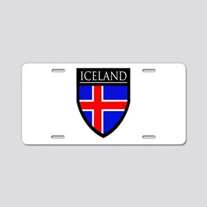 Iceland Flag Patch Aluminum License Plate