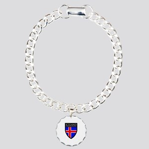 Iceland Flag Patch Charm Bracelet, One Charm