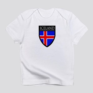 Iceland Flag Patch Infant T-Shirt