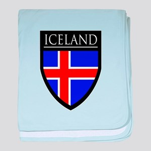 Iceland Flag Patch baby blanket
