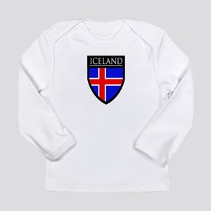 Iceland Flag Patch Long Sleeve Infant T-Shirt