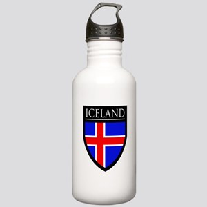 Iceland Flag Patch Stainless Water Bottle 1.0L