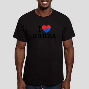 I Love Korea Men's Fitted T-Shirt (dark)