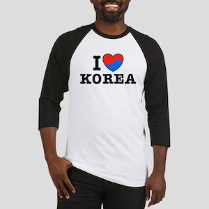 I Love Korea Baseball Jersey