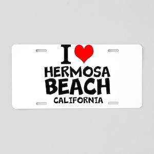 I Love Hermosa Beach, California Aluminum License
