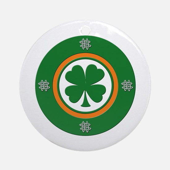 Clover Target 2 Ornament (Round)