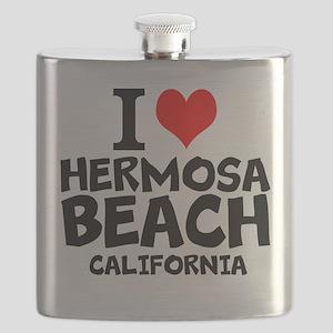 I Love Hermosa Beach, California Flask