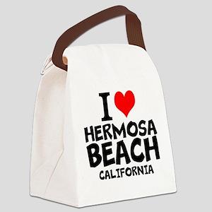 I Love Hermosa Beach, California Canvas Lunch Bag