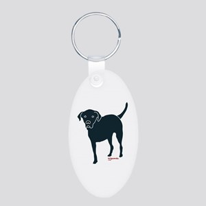 Tri-Lab Silhouette (Front) Aluminum Oval Keychain