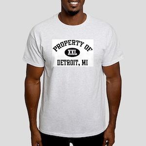 Property of Detroit Ash Grey T-Shirt