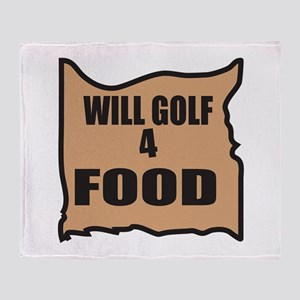 Will Golf 4 Food Throw Blanket