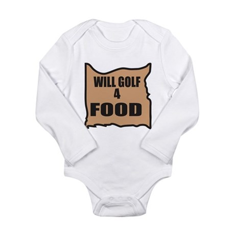 Will Golf 4 Food Long Sleeve Infant Bodysuit