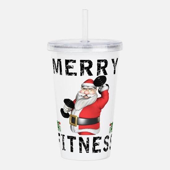 Merry Fitness Santa Acrylic Double-wall Tumbler