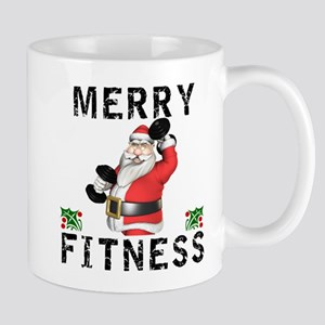 Merry Fitness Santa Mugs